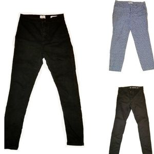 3 PAIRS OF SIZE 4 SKINNY JEANS PANTS